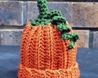 Lil' Orange Pumpkin Hat -