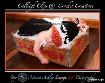 Instant Download Crochet Pattern - No 41 Puddles The Penguin - Cuddle Critter Cape Set Photography Prop