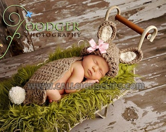 Instant Download Crochet Pattern no.25 Bunny Rabbit- Cuddle Critter Cape Set