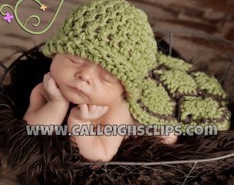 Instant Download Crochet Pattern No. 13 - The Original Hatchling Turtle- Cuddle Critter Cape Set  -