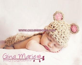 Instant Download Crochet Pattern - No. 9-  Lil'  Mouse - Cuddle Critter Cape Set  - Newborn Photography Prop