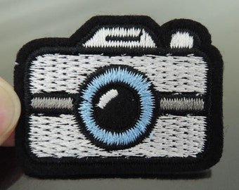 Iron on Patch - Camera Patch Iron on Applique Embroidered Patch Sewing Patch