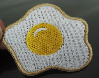 Egg Patches - Iron on Patch or Sewing on Patch Food Egg Patch Eggs Patch Embellishments Sewing Patch
