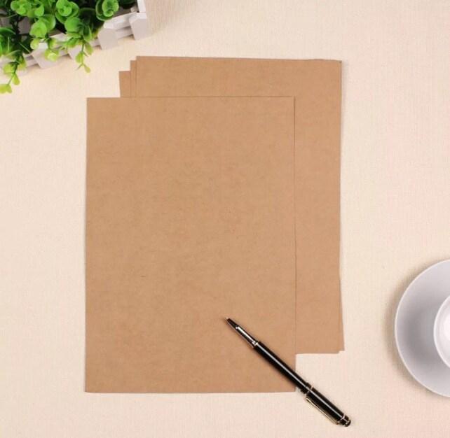 Kraft Paper - 50 Sheets Kraft A4 Size Paper Brown Paper Cardboard