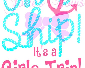 Oh Ship It S A Family Trip T Shirt Design Cut Cutting File
