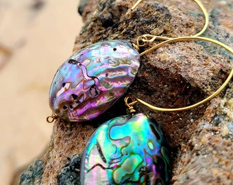 Forever Summer - Natural Abalone Shell earring  ~Abalone earring