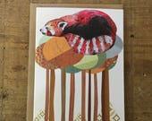 Red Panda // Greeting Card