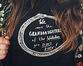 Ouroboros of the Witches  | Screen Printed Organic T-shirt | 100% sustainable cotton | sizes XXS to 3XL | Black