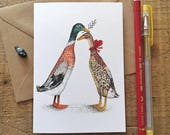 Runner Ducks // Greeting Card