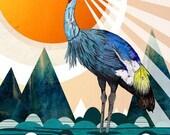 Crowned Crane // A5 print