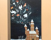 Winter Castle | Greeting / Christmas Card | Blank Inside