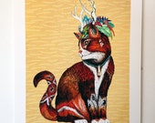Magus Wizard Cat | Signed A3 archival quality Giclee' Print | Limited Edition of 100