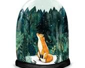 SNOW GLOBE FOX // Signed A3 print