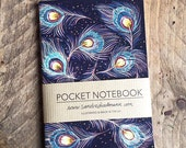 Notebook, Jotter, Mini Sketchbook | Peacock