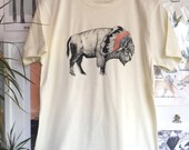 Bison | Screen Printed Organic T-shirt | 100% cotton | Ecru (ONLINE PRICE)