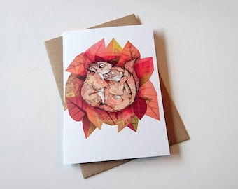 Squirrel Spoon // Greeting Card