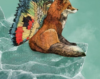 Flying Fox // Signed A4 print