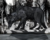 """BLACK SHUCK // signed, archival quality Giclee' Print 