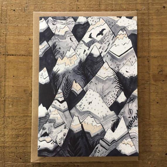Mountains // Greeting Card
