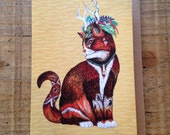 Magus Wizard Cat // Greeting Card