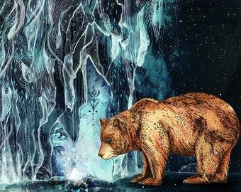 Bear Cave // Signed A3 print