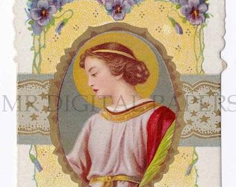 Saint Holy Prayer Card / Saint Holy Card / Saint Catharina / Prayer Card / 3 sizes/ Digital Download/ Holy Card Ephemera / Saint Card
