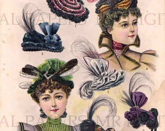 1a7430936 Antique millinery   Etsy