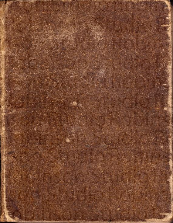 Antique Ancienne En Cuir Couverture De Livre 14 X 18 Telechargement Numerique Papier Scrapbooking Fournitures Telechargement Immediat Motif