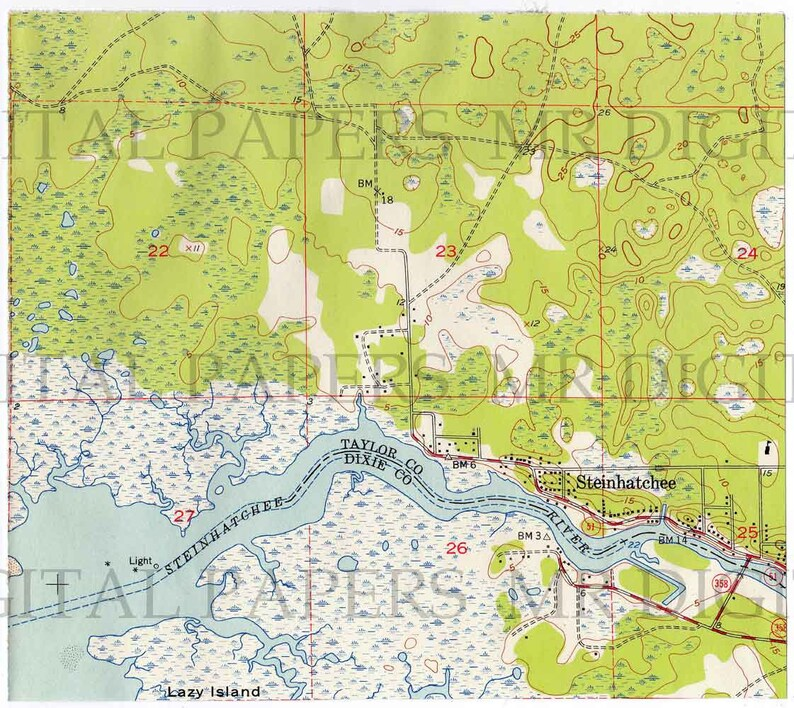 Vintage Map / Antique U.S. Map / Topo Map / Map Print / | Etsy