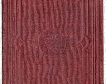 Antique Book Cover / 14 x 18 / Digital Instant Download / Book Cover / Old Book / Paper Ephemera / Antique Ephemera / Book Art / Mason Book
