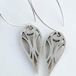 Elf Deco Cutout Design Sterling Silver Drop Earrings, Plus one extra pair of ear wires