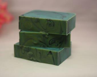 Bay Rum soap cold processed swirl soap lye soap handmade soap unique