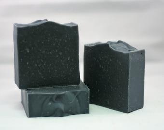 Black soap lye soap activated charcoal soap cold processed soap coal soap facial bar