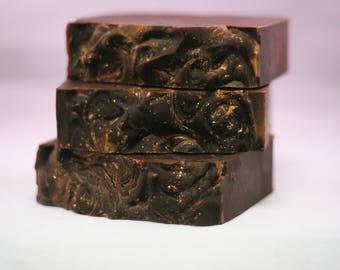 Honey Vanilla soap lye soap cold processed soap handmade soap dark sweet soap