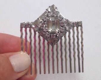 Great Gatsby Vintage Silver Crystal Rhinestone Bridal Wedding Headpiece, Hair Comb, Bridal Accessories, One of a Kind