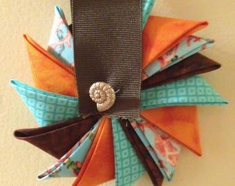 Coral Pinwheel Ornament