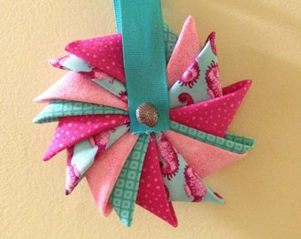 Seahorse  Pinwheel Ornament