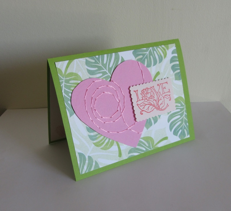 Tropical Love Greeting Card with Envelope