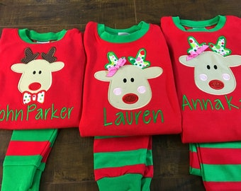 Christmas Gingerbread Girl Embroidery Pajamas Set aae87aaf7