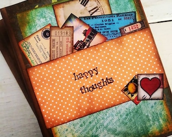 Happy Thoughts Journal with Unlined Pages