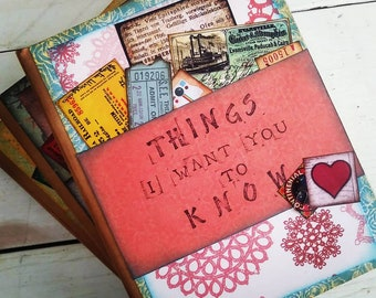 Things I Want You To Know Journal with Unlined Pages