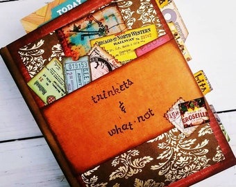 Trinkets n What-not Chunky Journal with Unlined Pages