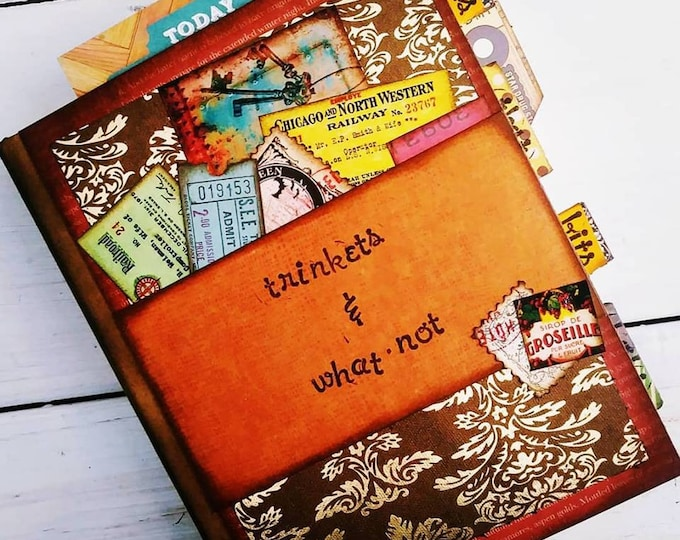 Featured listing image: Trinkets n What-not Chunky Journal with Unlined Pages