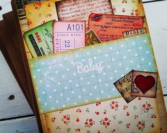 Baby Book Pregnancy Journal with Unlined Pages