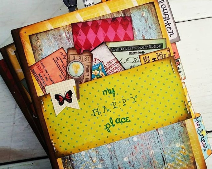 Featured listing image: My Happy Place Chunky Journal with Unlined Pages