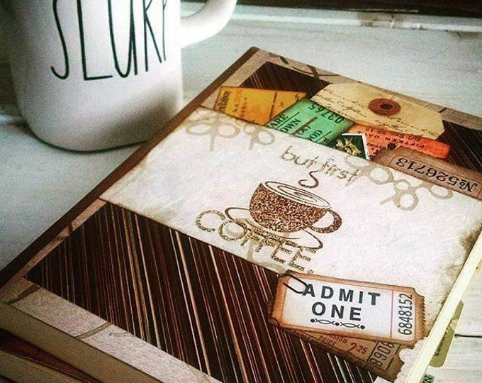 Featured listing image: But First Coffee Journal with Unlined Pages