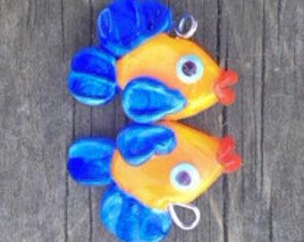 Lampwork Fish pair by Mystic Moon Beads SRA U5