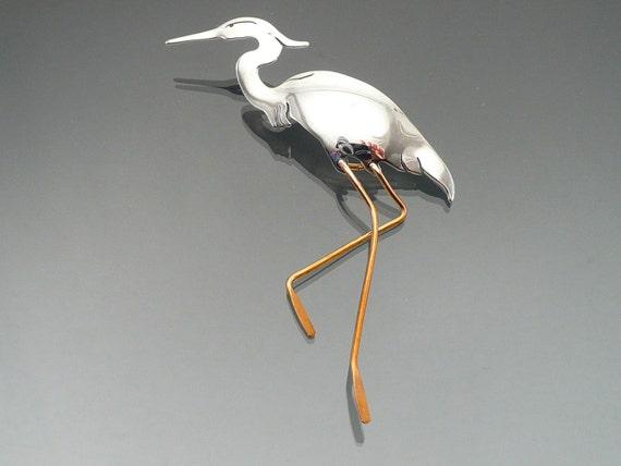 Heron Art Jewelry Animal Totem Art Herons Gift Ideas Etsy