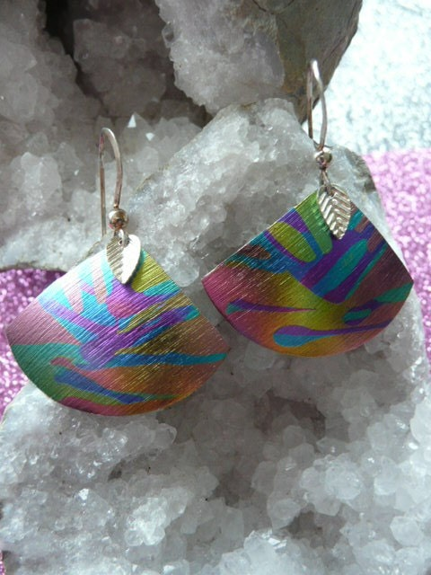 Niobium Jewelry Peacock Color Earrings Jewelry Handmade Etsy