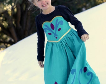 Queen Elsa Coronation Dress/Costume